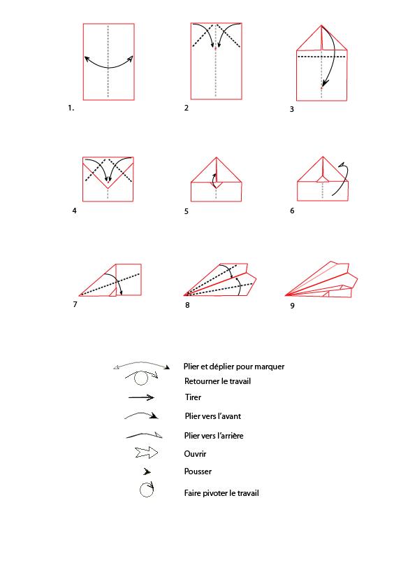 econom a en el nacional origami avi n en papel. Black Bedroom Furniture Sets. Home Design Ideas
