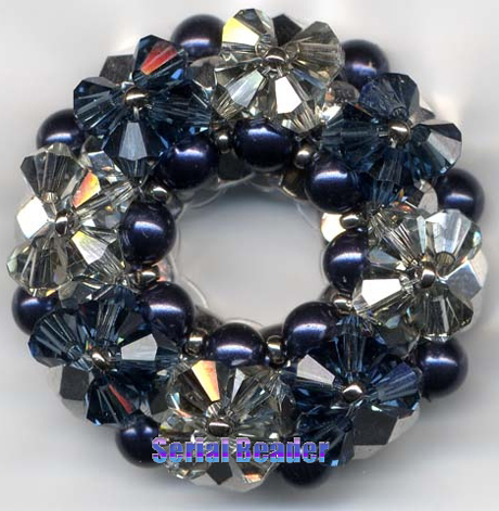 Bague Big-O-Nut en Perles
